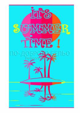 Голяма хавлия за плаж с летни мотиви 6192