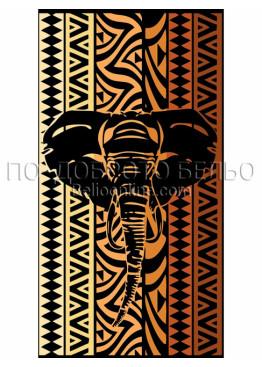 Плажна голяма хавлия Африка със слон 2929 Le Comptoir De La Plage
