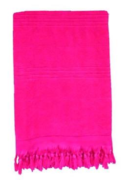 Плажна голяма хавлия с ресни в розово 9201 Le Comptoir De La Plage