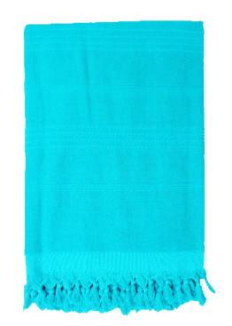 Плажна голяма хавлия с ресни в светло синьо 9201 Le Comptoir De La Plage