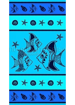 Плажна голяма хавлия с рибки 9218 Le Comptoir De La Plage