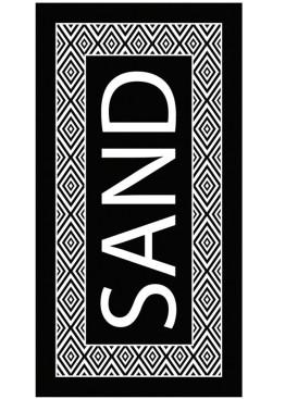 Плажна голяма хавлия в черно и бяло Sand 9213 Le Comptoir De La Plage