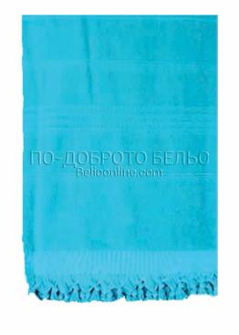 Плажна хавлия в  6199 в светло син цвят