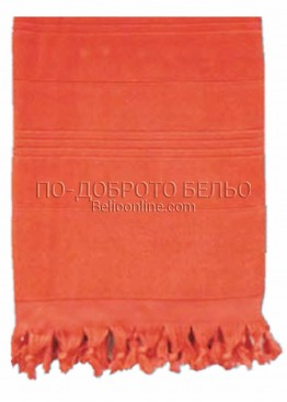 Плажна хавлия в  6202 в наситено оранжев цвят