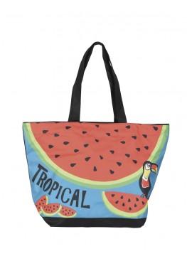 Плажна чанта 9272 Tropical с папагал и диня