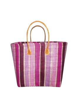 Плажна чанта 9275 шарено розово райе Le Comptoir De La Plage
