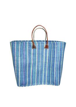 Плажна чанта 9275 шарено синьо райе Le Comptoir De La Plage