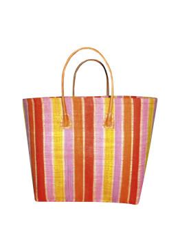 Плажна чанта 9275 шарено жълто райе Le Comptoir De La Plage