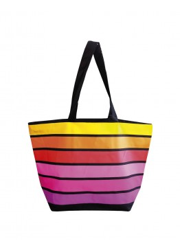 Плажна чанта в цветно райе 9290 Le Comptoir De La Plage