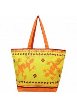 Плажна чанта в жълто Игуана 9289 Le Comptoir De La Plage