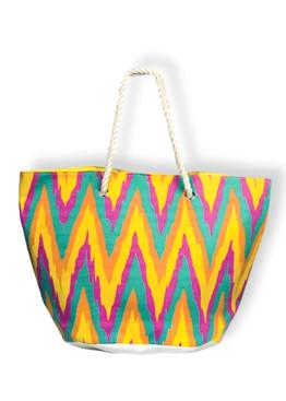 Плажна дамска чанта с цветен десен 9314 New Silhouette