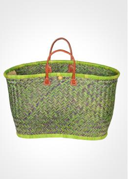 Плажна плетена кошница 9456 зелена Le Comptoir De La Plage