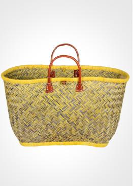 Плажна плетена кошница 9456 жълто Le Comptoir De La Plage