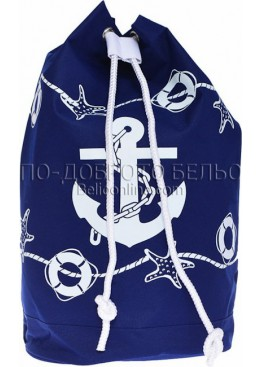 Плажна раница с моряшки мотиви с котва 9298 Le Comptoir De La Plage
