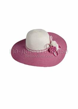 Капела за плаж с розова козирка 6210