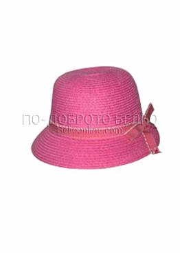 Лятна шапка за плаж 6204 в розов цвят