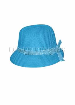 Лятна шапка за плаж 6205 в син цвят