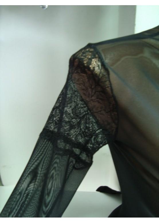 Дамско луксозно боди от тюл и дантела 550 Разпродажба