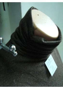 Дамско  вълнено боди поло в кафяв цвят