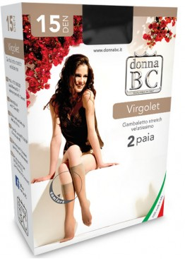 3/4 чорапи Donna BC Virgolet 15 2бр.