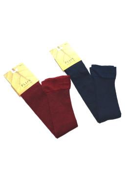 7/8 памучни чорапи в бордо и тъмно синьо 733