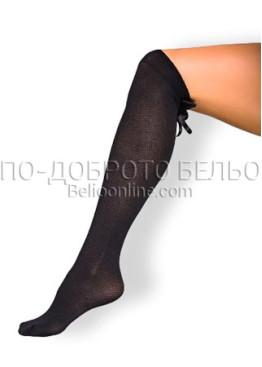 Дълги фигурални чорапи над коляното с панделки СИЯ