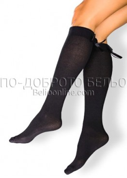 Дълги фигурални чорапи под коляното с панделки СИЯ