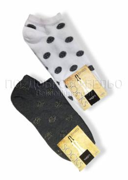 Дамски къси чорапи с брукат на точки La Diva 7538