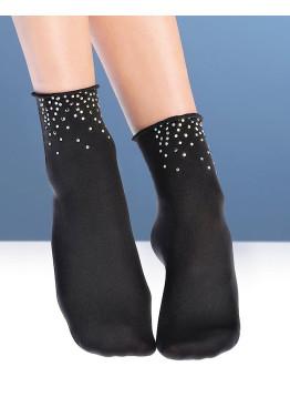 Дамски кокетни къси чорапи с блестящи камъчета Bellissima Night