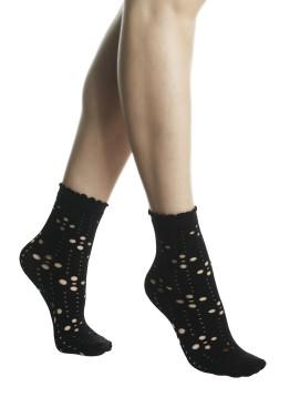 Дамски мрежести чорапи на дуки в черно Pompea Miranda