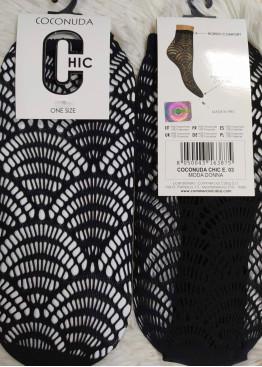 Дамски мрежести фигурални къси чорапи Coconuda E03