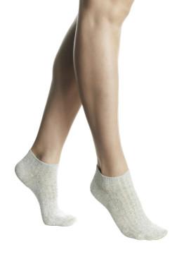 Дамски памучни чорапи терлик в сиво Pompea Romina