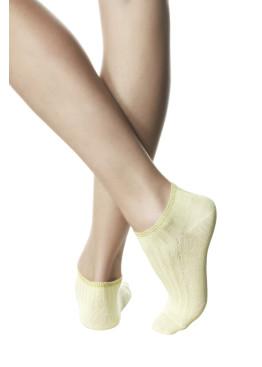 Дамски памучни чорапи терлик в жълто Pompea Romina