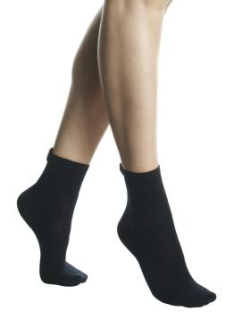 Дамски памучни къси чорапи със сърце от камъчета Pompea Fatima blu