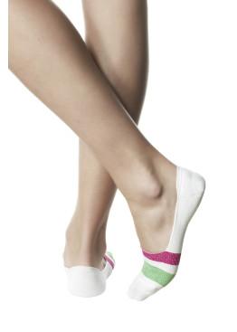 Дамски памучни терлички с цветни ленти с ламе Pompea Marlena Lampone