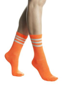 Дамски спортни къси чорапи в неонов оранжев цвят Pompea Jole Neon Orange