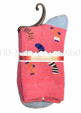 Дамски вълнени чорапи с картинка Marilyn 7246 в розов цвят