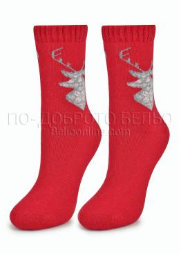 Дамски вълнени коледни чорапи 7455