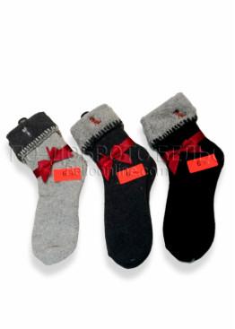 Дамски вълнени коледни чорапи 7456