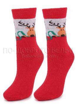 Дамски вълнени коледни чорапи 7457