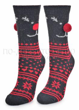 Дамски вълнени коледни чорапи 7459