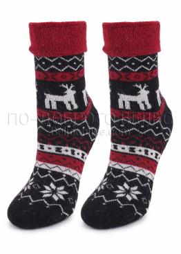 Дамски вълнени коледни чорапи 7460