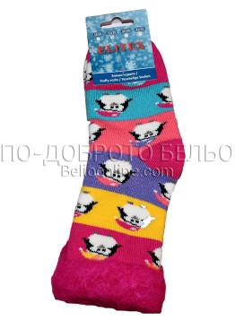 Детски дебели зимни пухкави чорапи Elitex 9351 с пингвинчета
