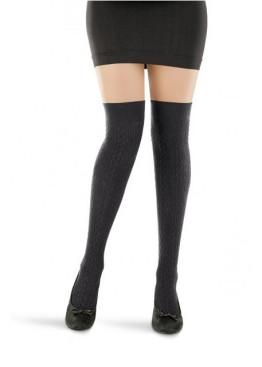 Фигурални чорапи над коляното Karina