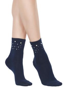 Памучни къси чорапи с камъчета POMPEA
