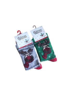 Коледни чорапи с еленче 869