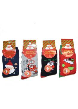 Коледни термо чорапи 7467