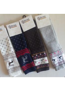 Коледни термо чорапи с еленчета и сърца