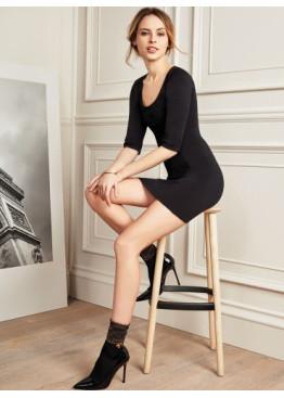 Луксозни  къси чорапи с ламе ,бижу и панделка Philippe Matignon  2017
