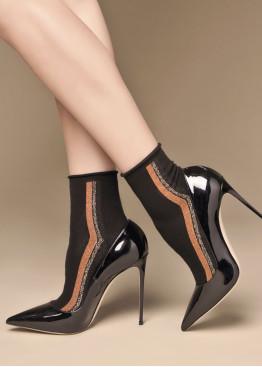 Луксозни къси памучни чорапи със странични ленти от ламе Philipe Matignon Bateau